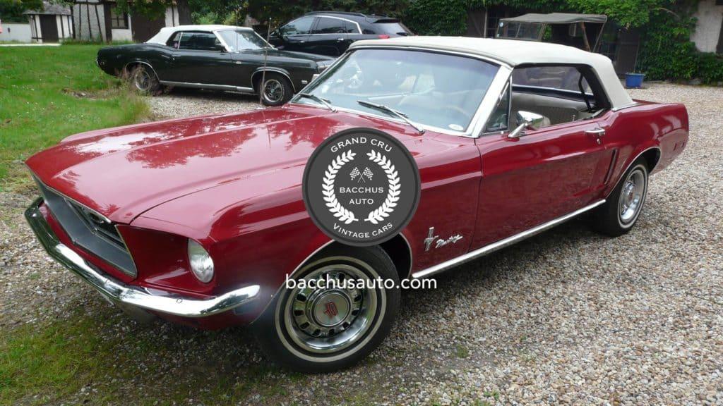 1968 ford mustang 289 gt cabriolet bacchus auto vintage cars. Black Bedroom Furniture Sets. Home Design Ideas